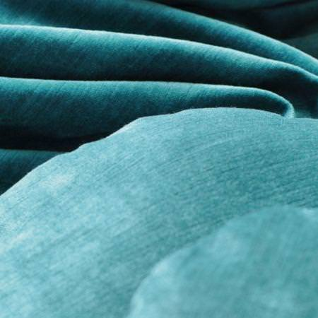 Clarke and Clarke -  Paris Fabric Collection - Turquoise velvet fabric