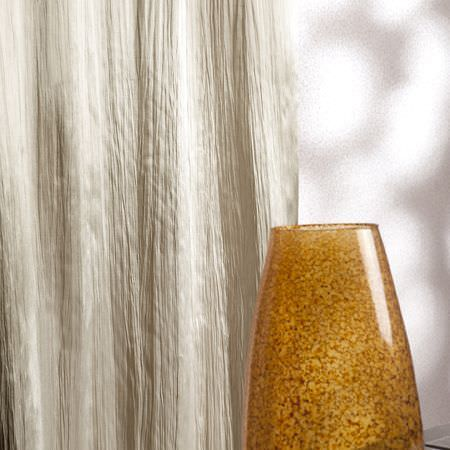Clarke and Clarke -  Silky Fabric Collection - A shiny, cream fabric used for curtains