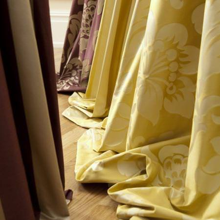 Yellow curtain texture stock image Image of decoration