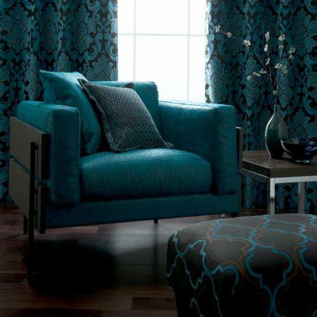 Clarke and Clarke -  Versailles Fabric Collection - Polyester and cotton chair upholstery, cushions and curtain with classic patterns