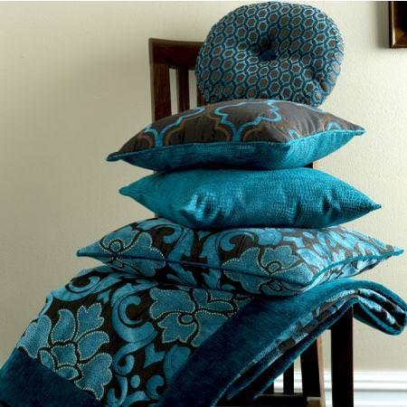 Clarke and Clarke -  Versailles Fabric Collection - Versailles style decorated cushions and blanket with classic patterns