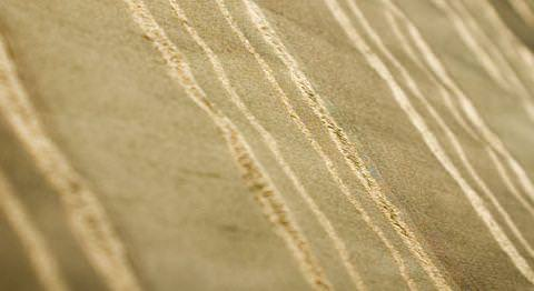 Design Forum -  Opium Silks Fabric Collection - Gold silk fabric with reflective vertical stripes