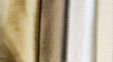 Design Forum -  Persian Silks Fabric Collection - Gold and white reflective Persian silks fabrics collection