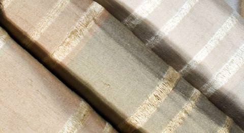 Design Forum -  Persian Silks Fabric Collection - Collection of gold and silver striped Persian silks