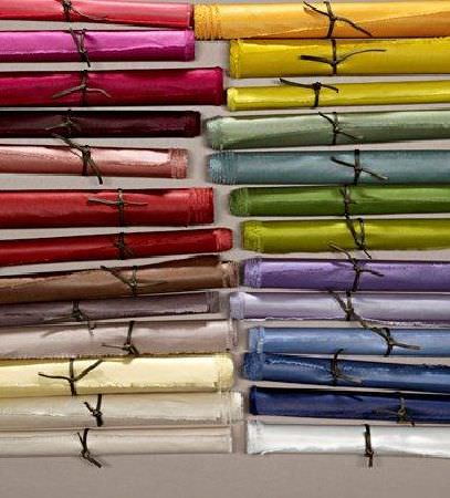 Design Forum -  Saturn Fabric Collection - Coloured scrolls of silk fabric