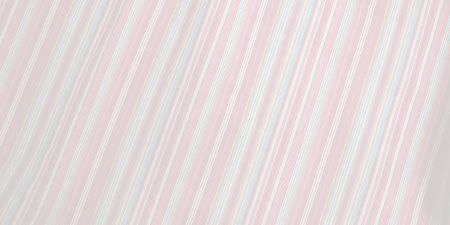 Elanbach -  Fair and Square Fabric Collection - Swatch of fabric covered in narrow, subtle stripes in very pastel shades of pink, blue and white