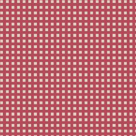 Elanbach -  French Toile Fabric Collection - Bright red and white gingham style checked fabric