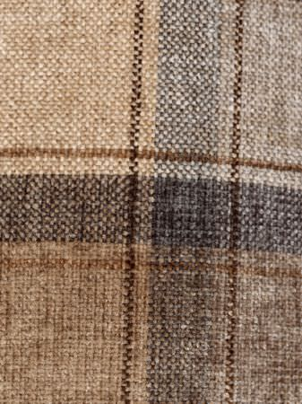 Fibre Naturelle -  Glencoe Fabric Collection - Fabric made with a checked design, featuring very dark grey, warm cream and several different shades of grey