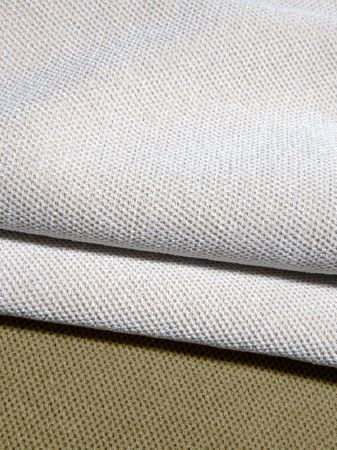 Fibre Naturelle -  Heritage Fabric Collection - Plain white and green thick fabrics