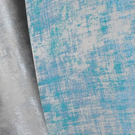Fibre Naturelle -  Miami Fabric Collection - Modern and conventional pattern in blue and silver on fabrics from the Miami Fabric Collection
