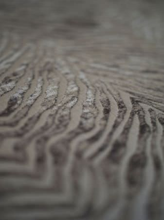 Fibre Naturelle -  Milano Fabric Collection - Silver-grey velvet effect animal striped fabric