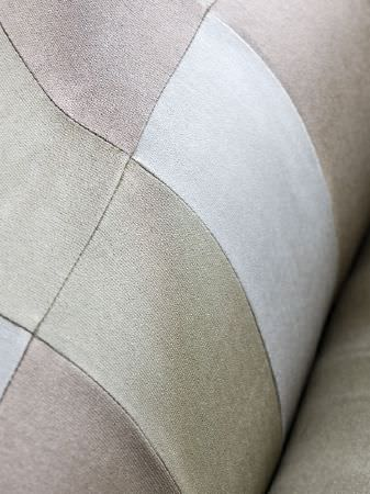 Fibre Naturelle -  Monza Fabric Collection - Patches of pale green, light blue and coffee coloured fabrics