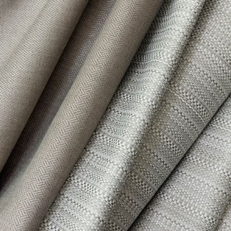 Fibre Naturelle -  Night Owl Fabric Collection - A collection of fabrics dyed in different shades of beige decorated with subtle threaded patterns