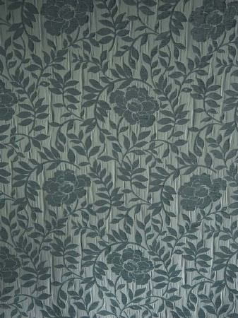 Fibre Naturelle -  Roma Fabric Collection - Ice blue-grey floral and leaf patterned fabric