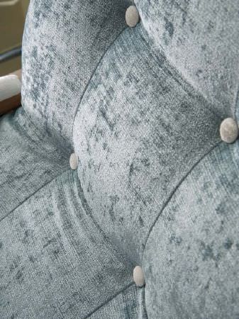 Fibre Naturelle -  Roma Fabric Collection - Textured pale blue-grey chair back