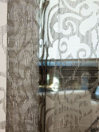 Fibre Naturelle -  Tranquility Fabric Collection - See-through fabric with a striped swirl design