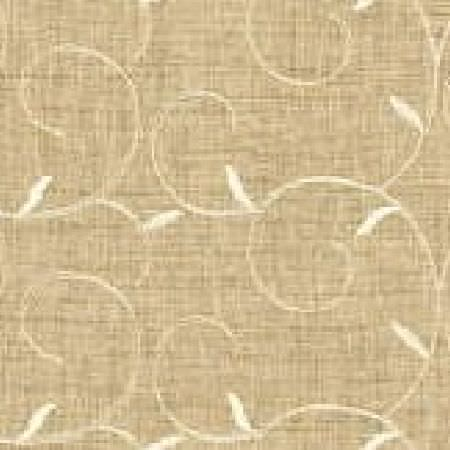 GP and J Baker -  Beaumont Sheers Fabric Collection - Fabric dyed in a lighter shade of beige decorated with a pattern of swirly branches and leaves