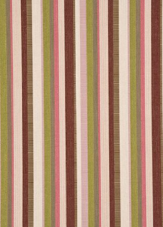 GP and J Baker -  Marwood Weaves Fabric Collection - Light brown fabric decorated with a pattern of bright stripes in colours white, pink, green and purple