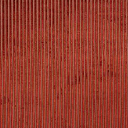 GP and J Baker -  Montague Fabric Collection - Silky fabric dyed in dominant red shade decorated with a pattern of thin vertical stripes in brown