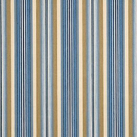 GP and J Baker -  Simply Checks and Stripes Fabric Collection - Fabric decorated with a simple pattern of stripes in colours light blue, dark blue, beige and brown