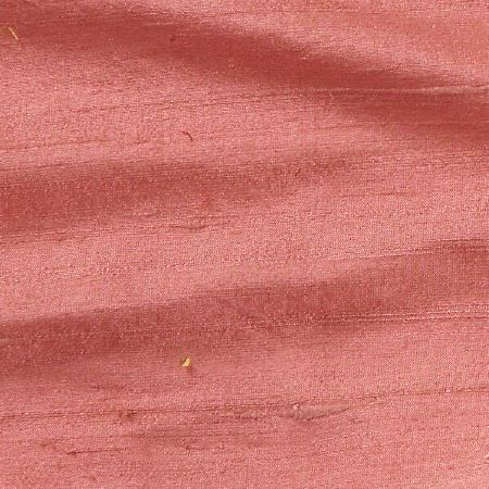James Hare -  Handwoven Silk Fabric Collection - Fabric made in a plain salmon pink colour