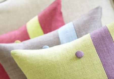 James Hare -  Simla Silk Fabric Collection - Fabric made in a bright, plain shade of lime green