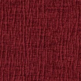 Jim Dickens -  Mardin Fabric Collection - Fabric in a deep burgundy colour, which has some raised lines which are short and slightly wavy