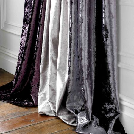Kai -  Scriva Fabric Collection - Very elegant fabrics from the Scriva collection in dark shade of purple, grey and vibrant white shade