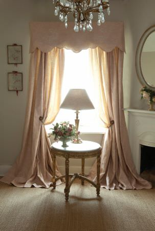 Kate Forman -  Kate Forman Fabric Collection - Plain cream coloured curtain valance perfect for a country or classic house style and a white classic style lamp shade
