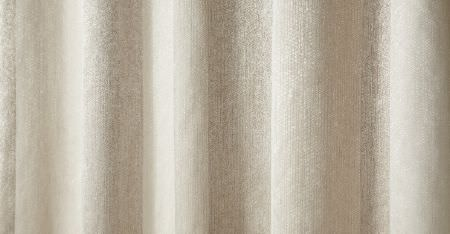 Kobe -  Inoxy Fabric Collection - Folds of semi-plain fabric woven in a blend of chalk white and a very pale shade of grey