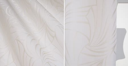 Kobe -  Skimo Fabric Collection - Very subtle patterns made with a slight lustrous finish on bright white fabric