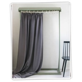 Ada and Ina -  Linen Fabrics Collection - Blue curtains
