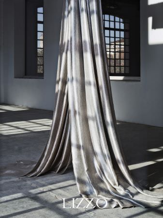 Lizzo -  Aroma Fabric Collection - Two swathes of long, plain silver fabric