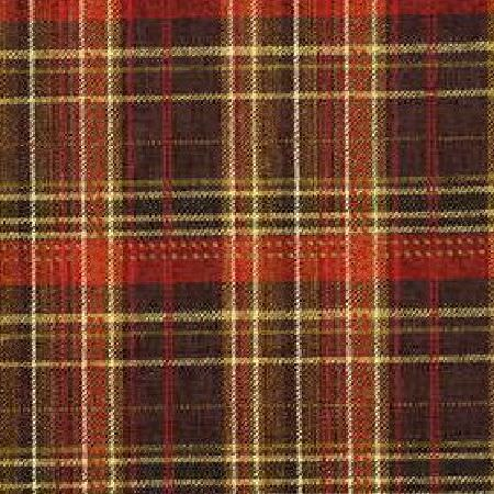 Mulberry Home -  Allegro Weaves Fabric Collection - Woven fabric dyed in dark shade of red decorated with a plaid design from the Allegro Weaves Fabric Collection