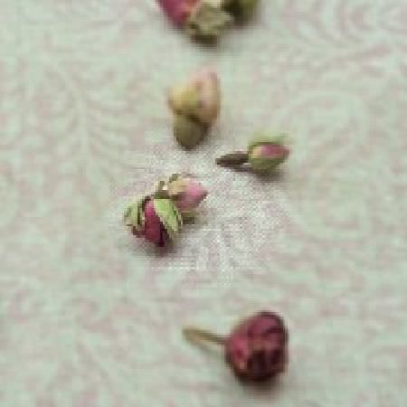 Peony and Sage -  Living Pretty Fabric Collection - Pale pink and grey patterned fabric featuring a small, subtle pattern, scattered with purple and pink rose buds