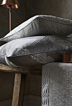 Prestigious Textiles -  Focus Fabric Collection - Silky prestigious decorative cushions decorated with modern threaded patterns and elegant furniture cover