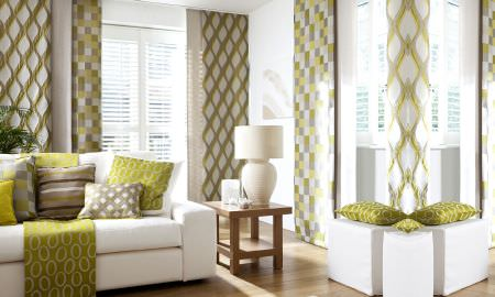 Green Curtains brown cream and green curtains : Mode Fabric Collection | Prestigious Textiles | Curtains & Roman ...