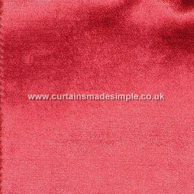 Prestigious Textiles -  Palladium Fabric Collection - Plain bright red reflective fabric from the Palladium fabric collection