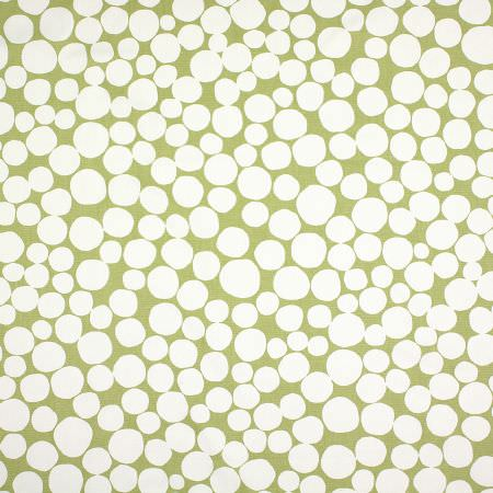 Prestigious Textiles -  Splash Fabric Collection - Small, irregular white pebble-like dots scattered over a light fern green coloured fabric