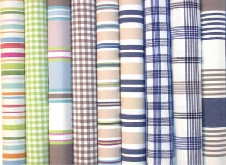 Swedish Fabric Company -  Linum Fabric Collection - Assorted coloured checked and striped fabrics