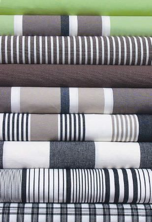 Swedish Fabric Company -  Linum Fabric Collection - Striped fabrics in white, grey, beige, brown and green