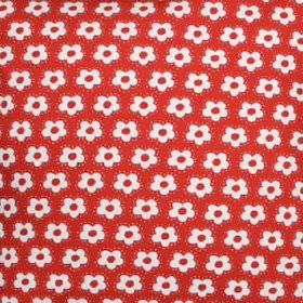 Swedish Fabric Company -  Malin Westberg Fabric Collection - Simple red and white flower print fabric