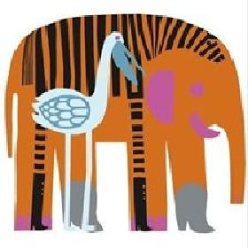 Swedish Fabric Company -  Marimekko Fabric Collection - Elephant, zebra and bird design in bright colours