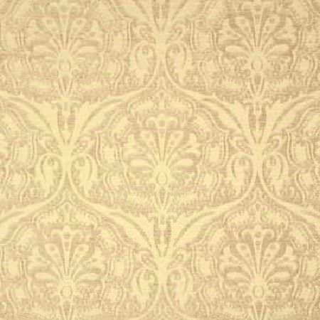 Threads -  Harmony Fabric Collection - Fabric dyed in soft shade of yellow decorated with a subtle and modern floral design in beige