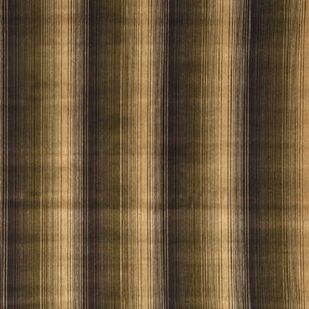 Threads -  Labyrinth Fabric Collection - Ombre fabric in colours ranging from dark brown to light beige with simple pattern of white stripes