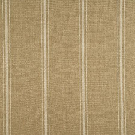 Threads -  Mistral Fabric Collection - Fabric dyed in darker shade of beige decorated with a pattern of different stripes in light beige