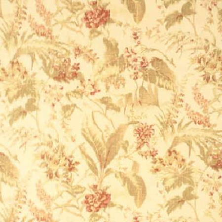 Threads -  Prose Fabric Collection - Very bright fabric dyed in colour beige decorated with a luxurious floral pattern in darker shade of beige