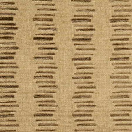 Threads -  Utopia Fabric Collection - Fabric dyed in colour beige decorated with a pattern of short threaded lines in colour brown