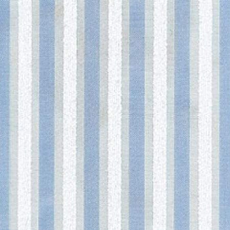 Wemyss -  Enigma Fabric Collection - Light shades of blue, grey and white making up a regular vertical stripe design on fabric