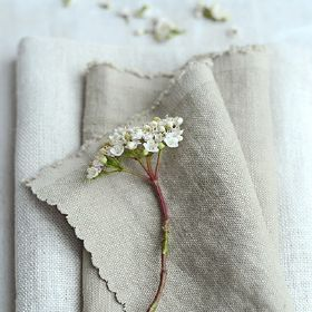 Chunky Stonewashed Linen - Mouse Fabric
